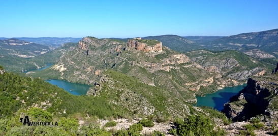 Vistas del embalse de Cortes