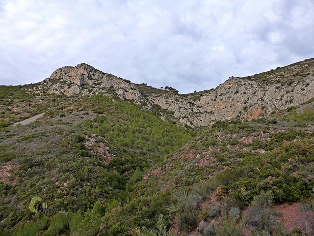 Vistas hacia el Alto de la Pedralbilla