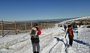 Junto a las pistas de esquí de Javalambre