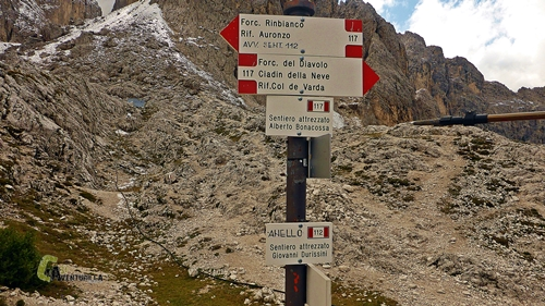 Alternativa de senderos en Dolomitas