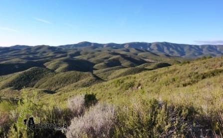 Las montañas de esta parte son suaves y onduladas