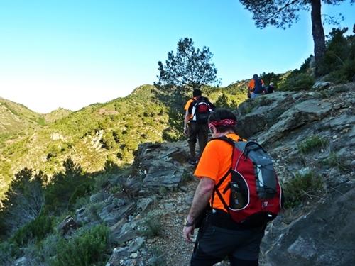 Hacia el pico Espadán