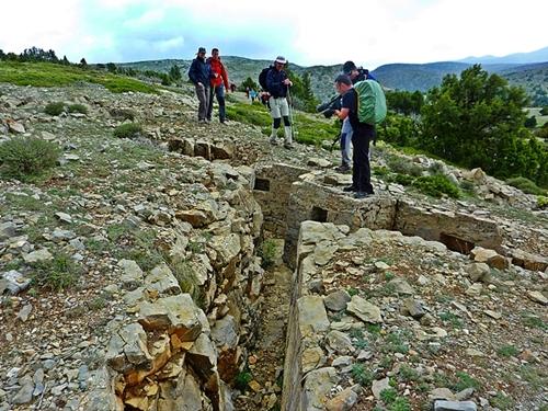 posiciones defensivas en la sierra de Javalambre