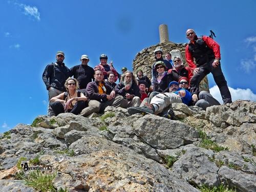 El grupo en la cima del Penyagolosa