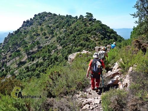 Hacia el pico Bellota