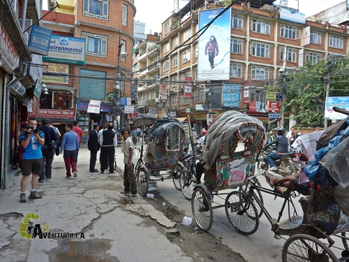 rickshaw en Kathmandú