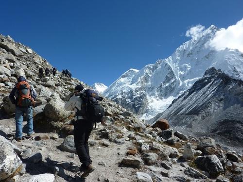 Junto al glaciar del Khumbu