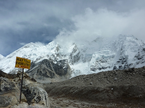 Cartel Campo Base del Everest