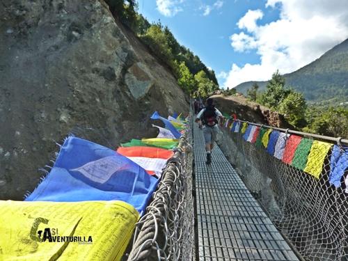 Puente colgante hacia Lukla