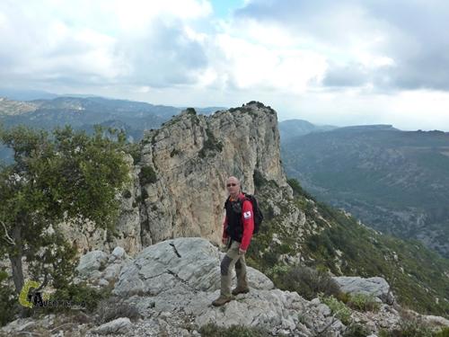 Posando en la montaña