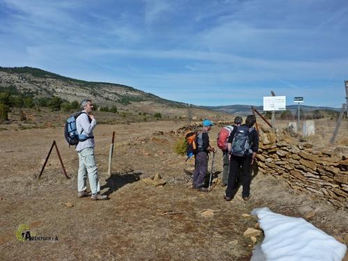 vía pecuaria en la sierra de Gudar