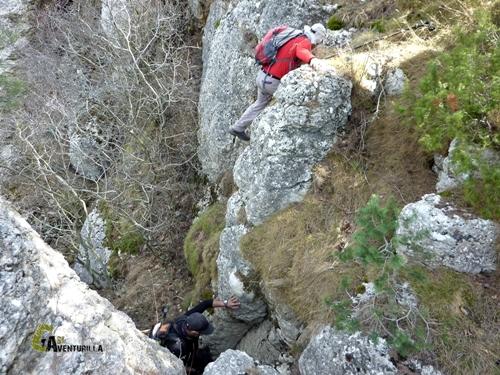 Tramo más complicado en la montaña