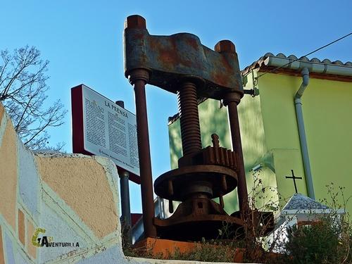 prensa para elaborar el aceite de oliva