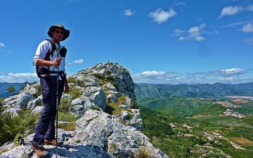 Cerca de la cima del Segaria