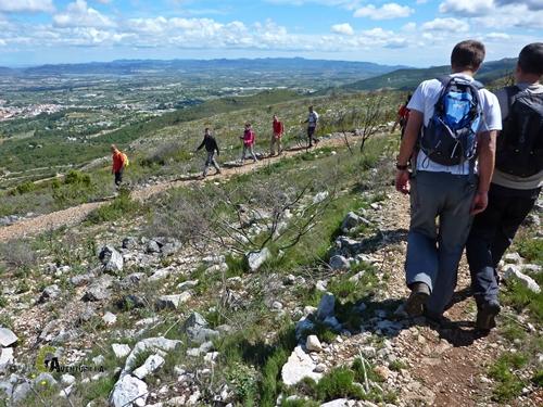 Bajando de la montaña