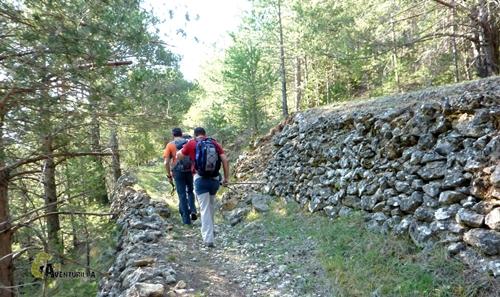 Camino antiguo en la sierra de Gudar