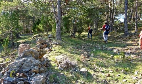 Antiguos camino en la sierra