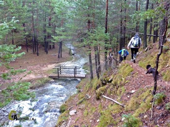 Primeros pasos de senderismo por el barranco del río Alfambra
