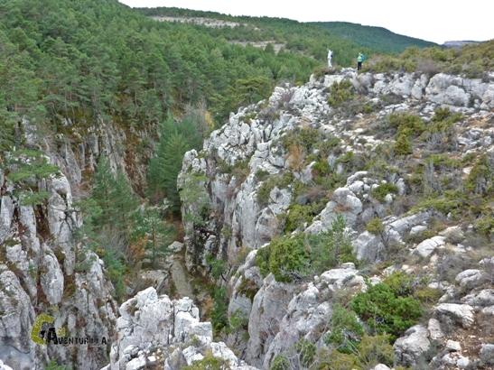 Vistas de la parte más estrecha del barranco de las Umbrías.