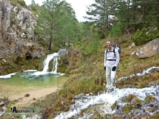 Cascada y manaderas en el barranco de ls Umbrías