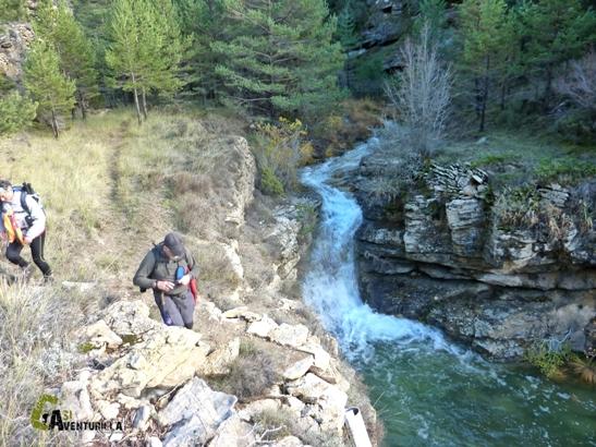 Barranco de las Umbrías en la sierra de Gúdar