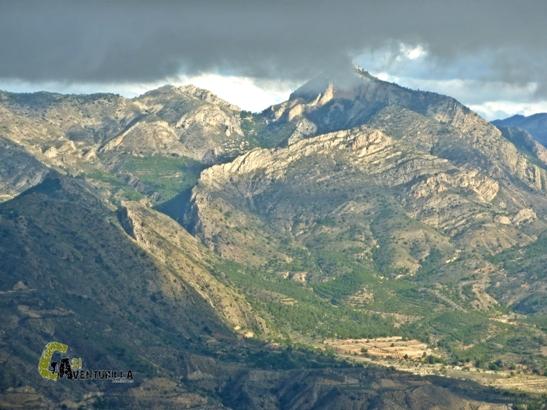 Vistas del Maigmo desde el cid