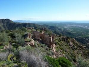 el castillo de la Vall d'Uixó desde arriba