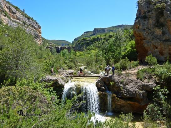 cascadas en el valle de Ayora