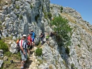 Paso de montaña con cadena