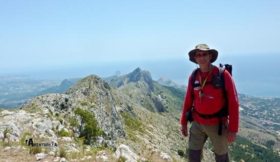Cresta de la sierra de Bernia
