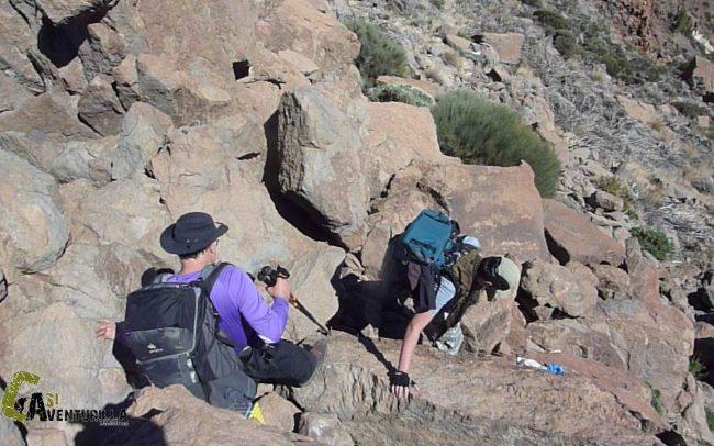 senderos del Parque Nacional de las Cañadas del Teide