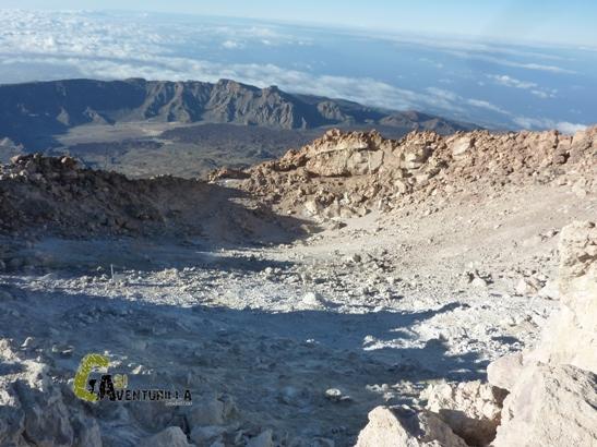 Cima del pico téide y su cráter