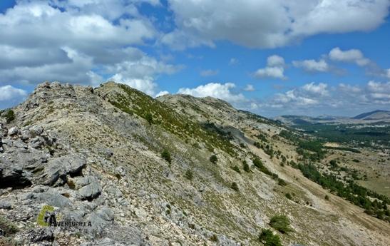 Vistas del pico Banderillas desde el cordal