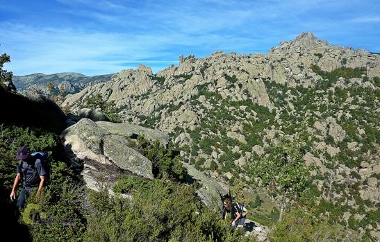 paisaje de granito en las Pedrizas