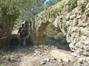 Acueducto en el valle de la Murta