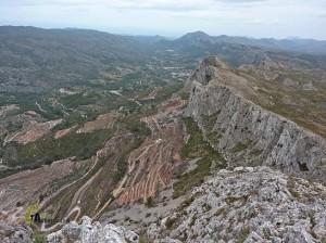 vistas del valle de la Gallinera