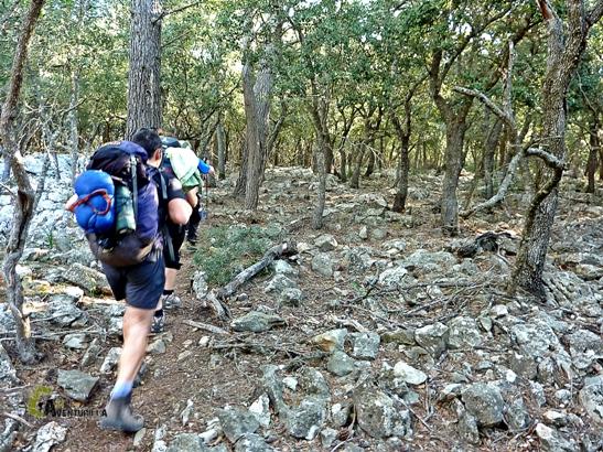 sendero de la ruta de la pedra en sec