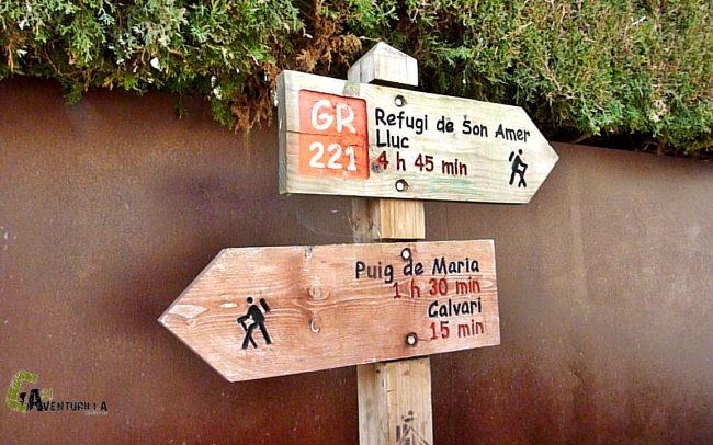 señalización del GR-221 y Ruta de Pedra en Sec
