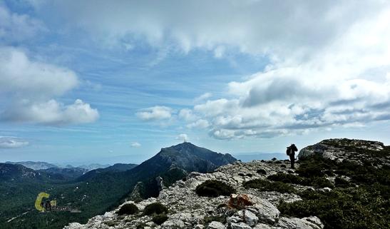 Vistas hacia el Mont Caro