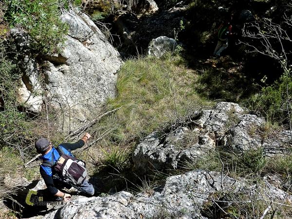 destrepando en el barranco de Linares