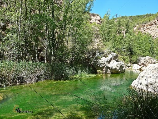 Remanso en el río Mijares