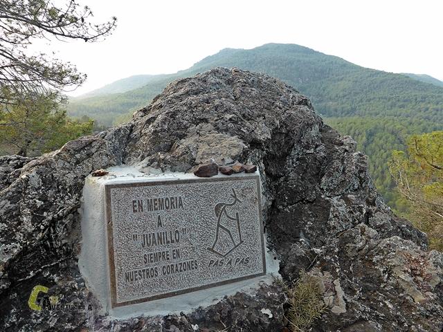 Placa en memoria de Juanillo de Pas a Pas