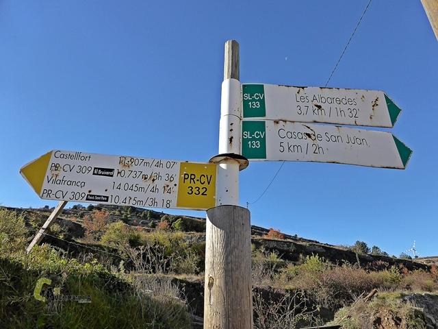 senderos señalizados en el Portell de Morella