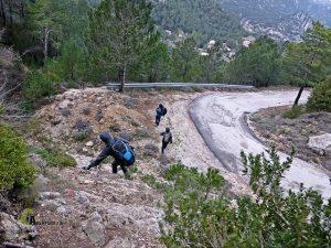 Bajando de Mont Caro