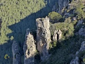 Formaciones rocosas en la zona de las Picorzas