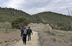 ruinas en la sierra de Petrer