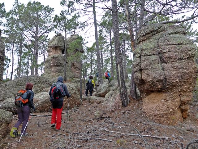 rocas curiosas en las Callejuelas