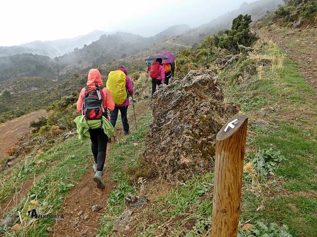subida al Cerro Lucero