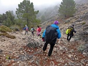 Bajando del Pico Lucero