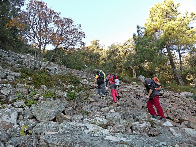 Pedreras en la sierra de Espadan